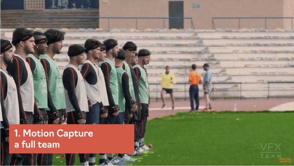 使用Xsens记录整个足球队的运动捕捉数据