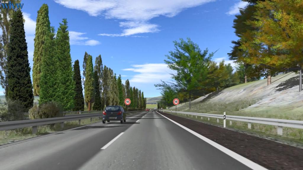 SILAB高速公路场景效果