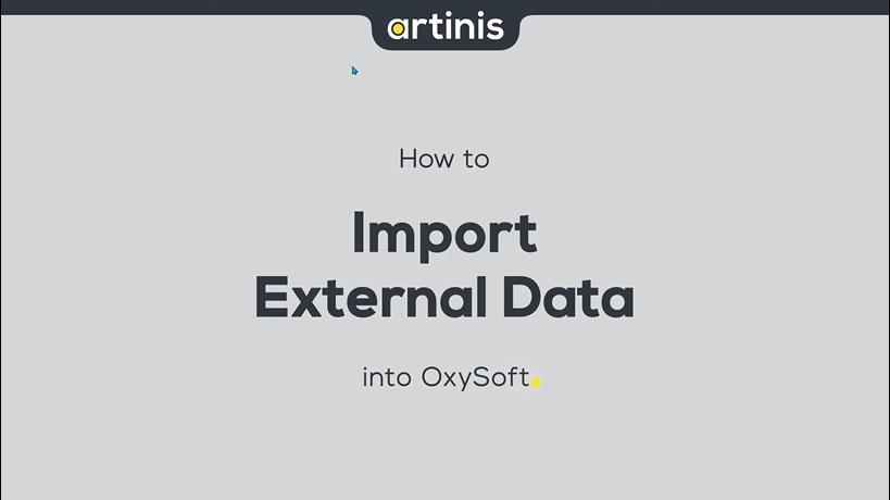 如何将外部数据导入Oxysoft