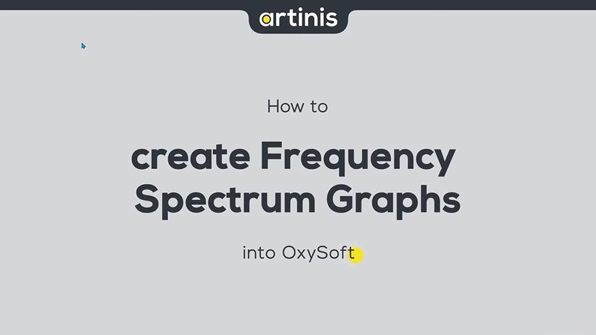 如何在OxySoft中创建频谱图