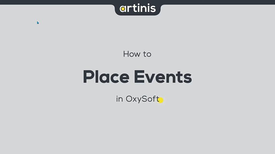 如何在OxySoft中放置事件