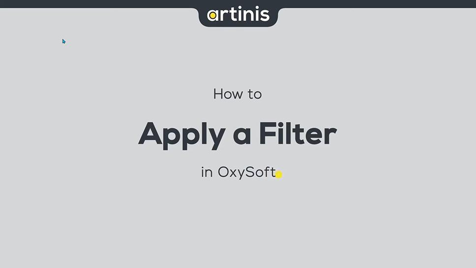 如何在OxySoft中应用过滤器