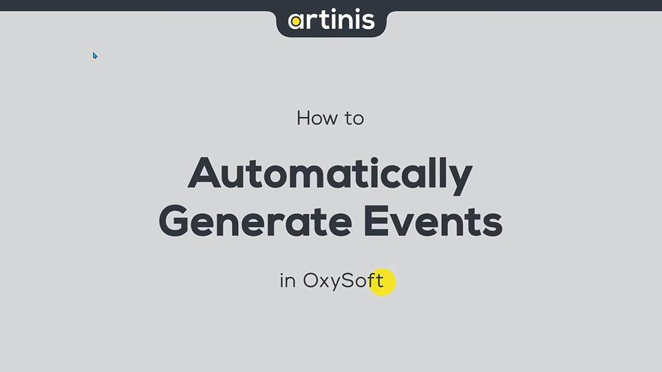 如何在OxySoft中自动生成事件