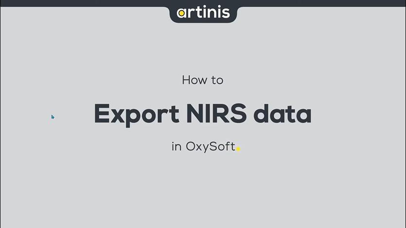 如何在OxySoft中导出NIRS数据